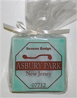 Beach Badge Seafoam Asbury Park Coasters