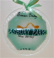 Beach Badge Asbury Park Seafoam Suncatchers