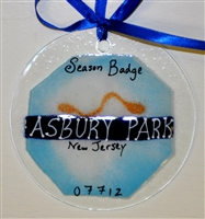 Beach Badge Asbury Park Blue Suncatchers