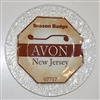 Any Town Beach Badge 9 inch Sand Plate