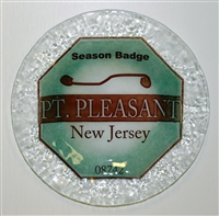 Any Town Beach Badge 9 inch Seafoam Plate