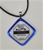 Any Town Beach Badge Blue Necklace