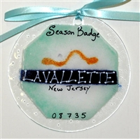 Any Town Beach Badge Mixed Color Suncatchers