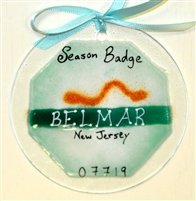 Any Town Beach Badge Seafoam Suncatchers