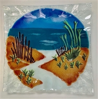 Beach Path Small Square Plate