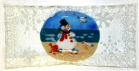Beach Snowman Rectangle Plate