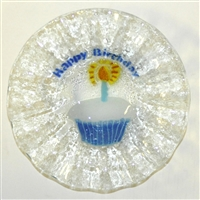 Blue Happy Birthday 7 inch Bowl