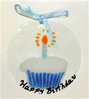 Blue Happy Birthday Suncatcher