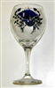 Blue Claw Crab Red Wine Glass