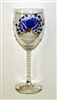Blue Claw Crab White Wine Glass