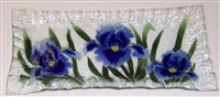 Blue Iris Rectangle Plate