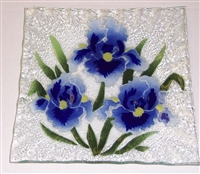Blue Iris Small Square Plate