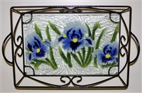 Blue Iris Small Tray (with Metal Holder)
