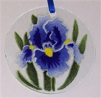 Blue Iris Suncatcher