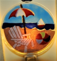 Bold Beach Scene Nightlight