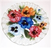 Bold Pansy 10.75 inch Plate