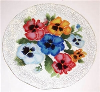 Bold Pansy 12 inch Plate