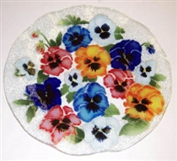 Bold Pansy 14 inch Plate
