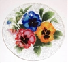 Bold Pansy 9 inch Plate