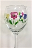 Bold Pansy Red Wine Glass