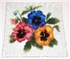 Bold Pansy Small Square Plate