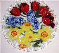Bold Spring Floral 10.75 inch Plate
