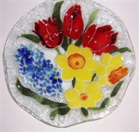 Bold Spring Floral 9 inch Bowl