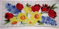 Bold Spring Floral Rectangle Plate
