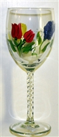 Bold Spring Floral White Wine Glass