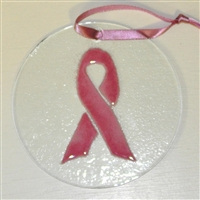 Breast Cancer Suncatcher