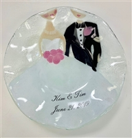 Bride and Groom 9 inch Bowl Custom