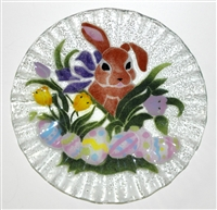Brown Bunny 10.75 inch Plate