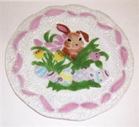 Brown Bunny 14 inch Platter