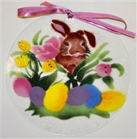 Brown Bunny 7 inch Suncatcher