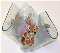 Brown Bunny Large Candleholder