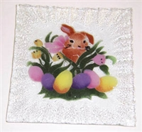 Brown Bunny Small Square Plate