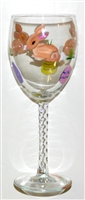 Brown Bunny White Wine Glass