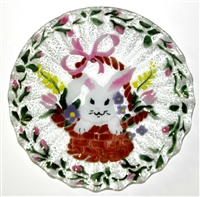 Bunny in Basket 10.75 inch Plate