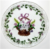 Bunny in Basket 12 inch Plate
