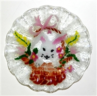 Bunny in Basket 7 inch Bowl