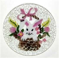 Bunny in Basket 9 inch Plate