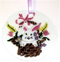 Bunny in Basket Suncatcher