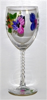Butterfly White Wine Glass