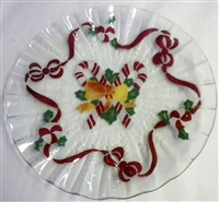 Candy Cane 10.75 inch Plate