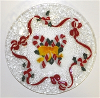 Candy Cane 9 inch Plate