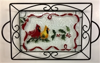 Cardinals Large Tray (with Metal Holder)