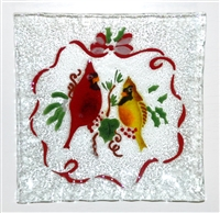 Cardinals Small Square Plate