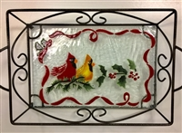 Cardinals Small Tray (with Metal Holder)