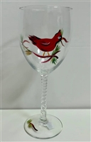 Cardinals White Wine Glass