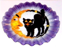 Cat and Moon 10.75 inch Plate